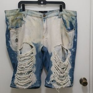 Pants - Acid Wash Denim Shorts